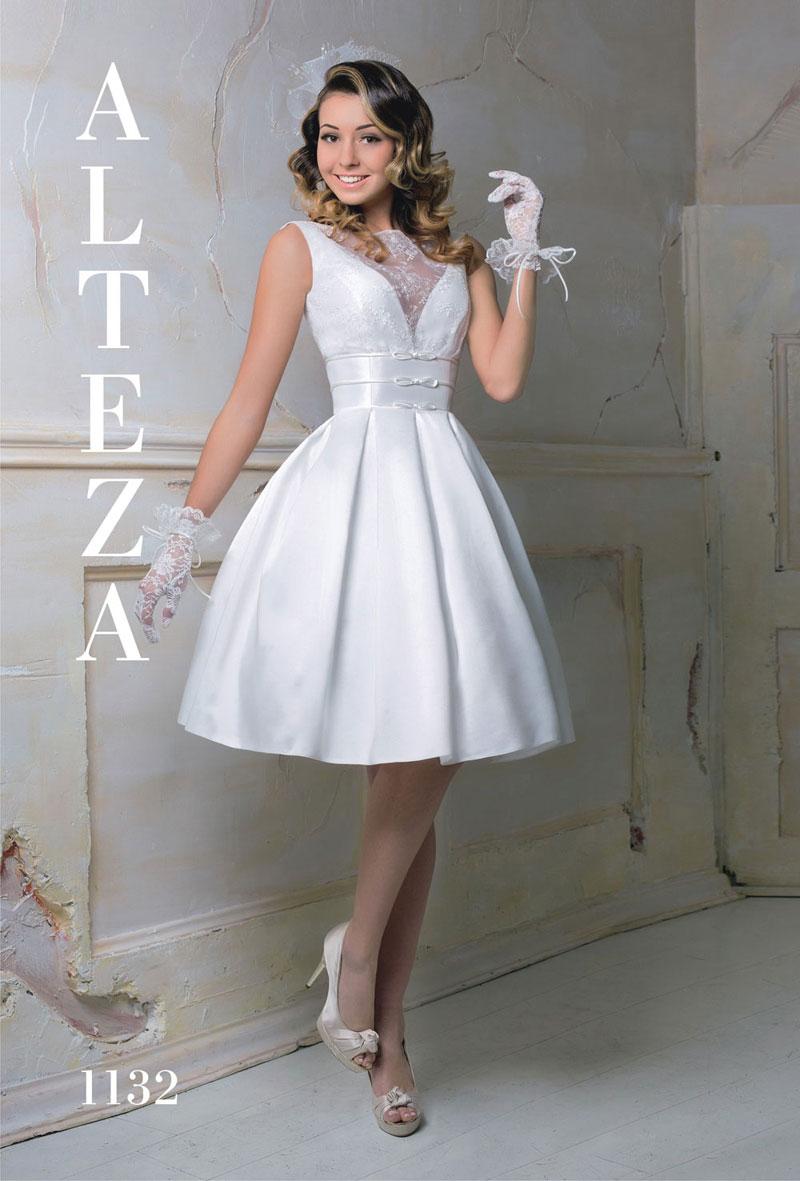 Фото свадебных платьев до колена